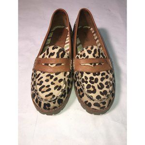 sperry leopard hayden penny loafer top sider calf